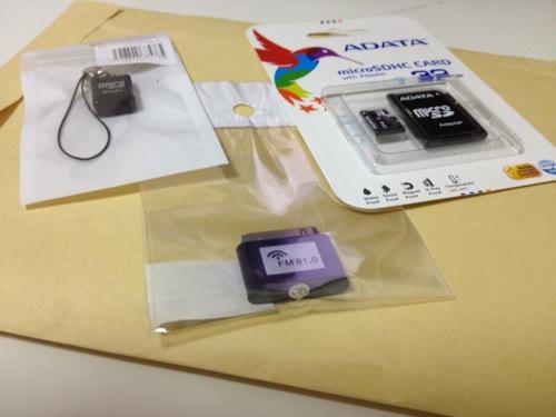 上海問屋からの999円microSDカード32GBその他が届いた!