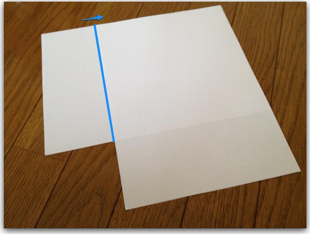 紙をカンタンきれいに三つ折りする方法