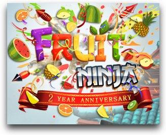 iPhoneのハマるゲーム、「Fruit Ninja」が無料!2周年記念でコードを配布中