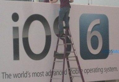 結構大胆?WWDC2012の会場設営中に「iOS6」の看板を設置中のところを発見される