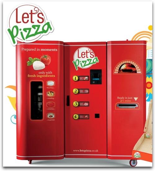 ピザの自動販売機。もちろん生地からお作りします