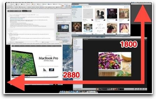 Retina MacBook Proで2880×1800のドットバイドットを実現するユーティリティが登場!