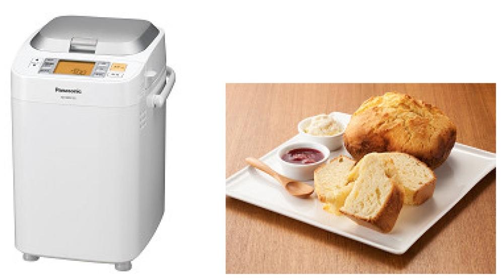 わずか54分でパンが作れるホームベーカリー登場
