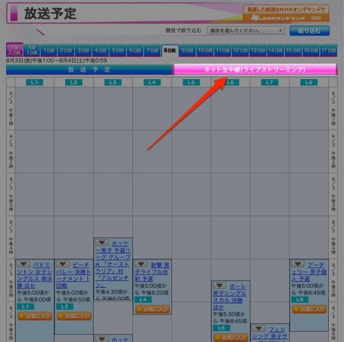 NHK、テレビ中継しないオリンピック競技を890時間程度ネットで無料生中継!
