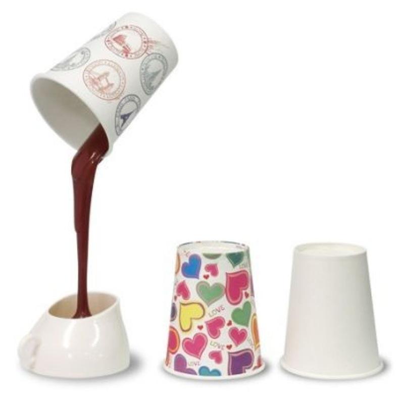 「紙コップからとろりと流れるチョコレート」なUSB LEDライトがあま〜い