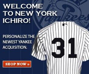 ヤンキース版イチローのユニフォーム 速攻で通販開始