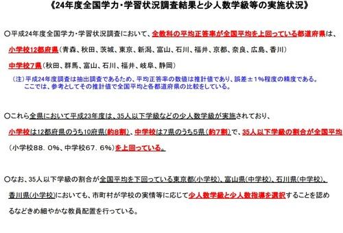 学力テストで全国平均を上回る都道府県はすべて「少人数学級」を実施