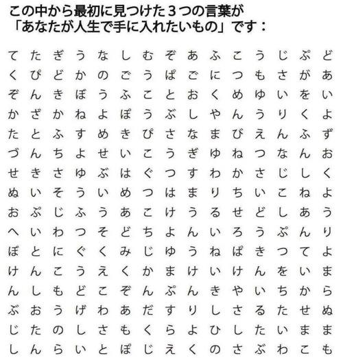 【日本語版】最初に見つけた3つの言葉が「あなたの人生で手に入れたいもの」です