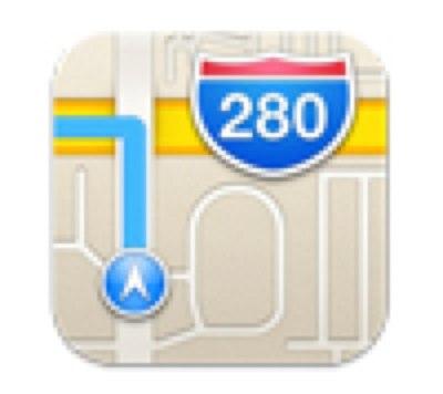 iOS6「マップ」アプリのアイコンが通行不能な道をナビしている件