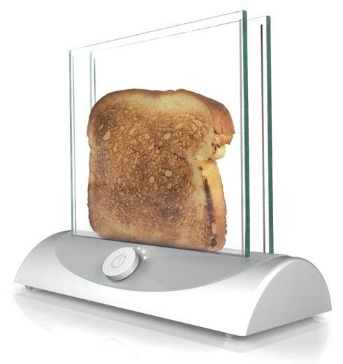 トースターを透明にしたらパンの焼き具合がわかっていいんじゃない?