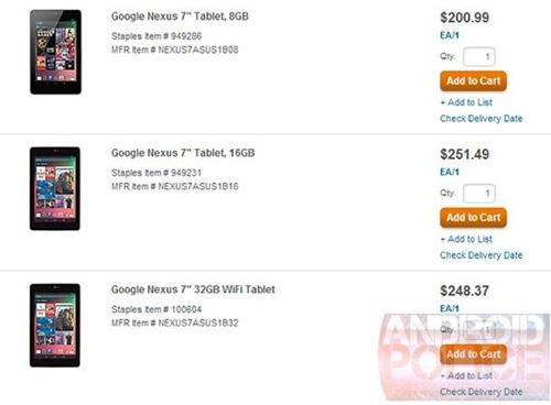 Nexus 7、32GBのほうが16GBより安いって!