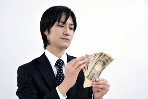 お金を数える時