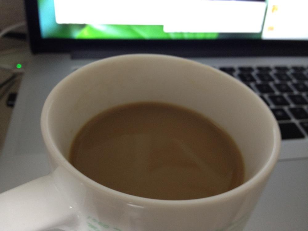 麦茶に牛乳でコーヒー牛乳