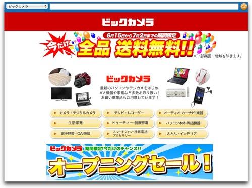 ビックカメラ  Amazon co jp