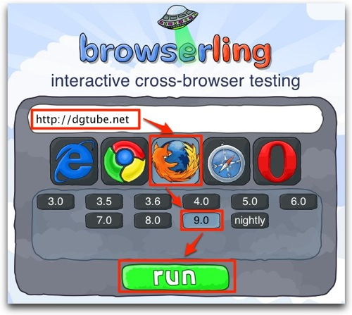 Browserling  interactive cross browser testing 1