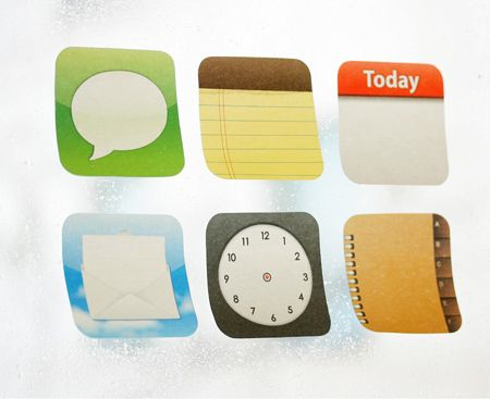 iPhoneアイコン付箋紙