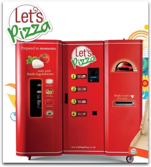 Let s Pizza world s first pizza vending machine food vending business 1