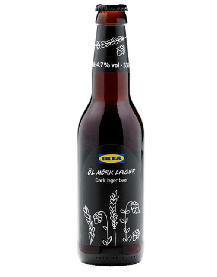 ÖL MÖRK LAGER Dark lager beer 4 7  IKEA