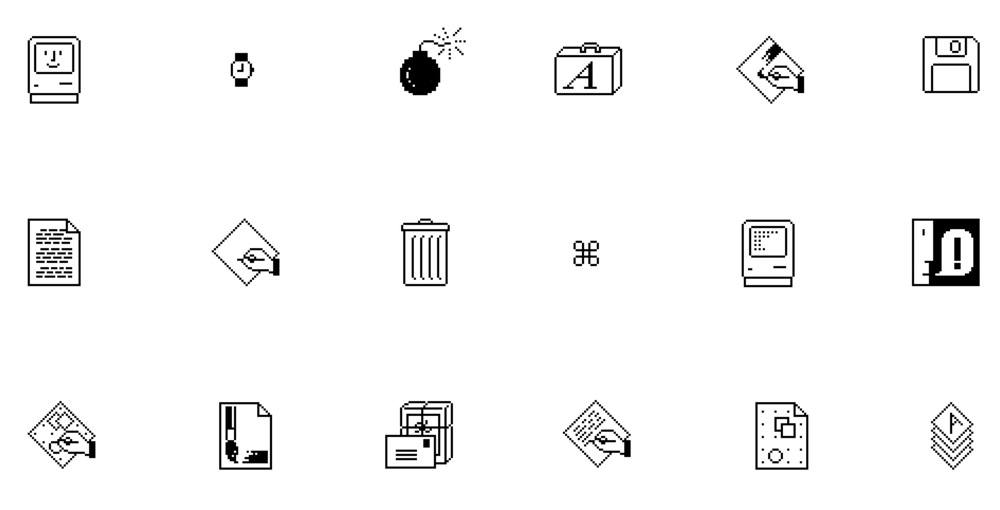 初期Macのアイコン