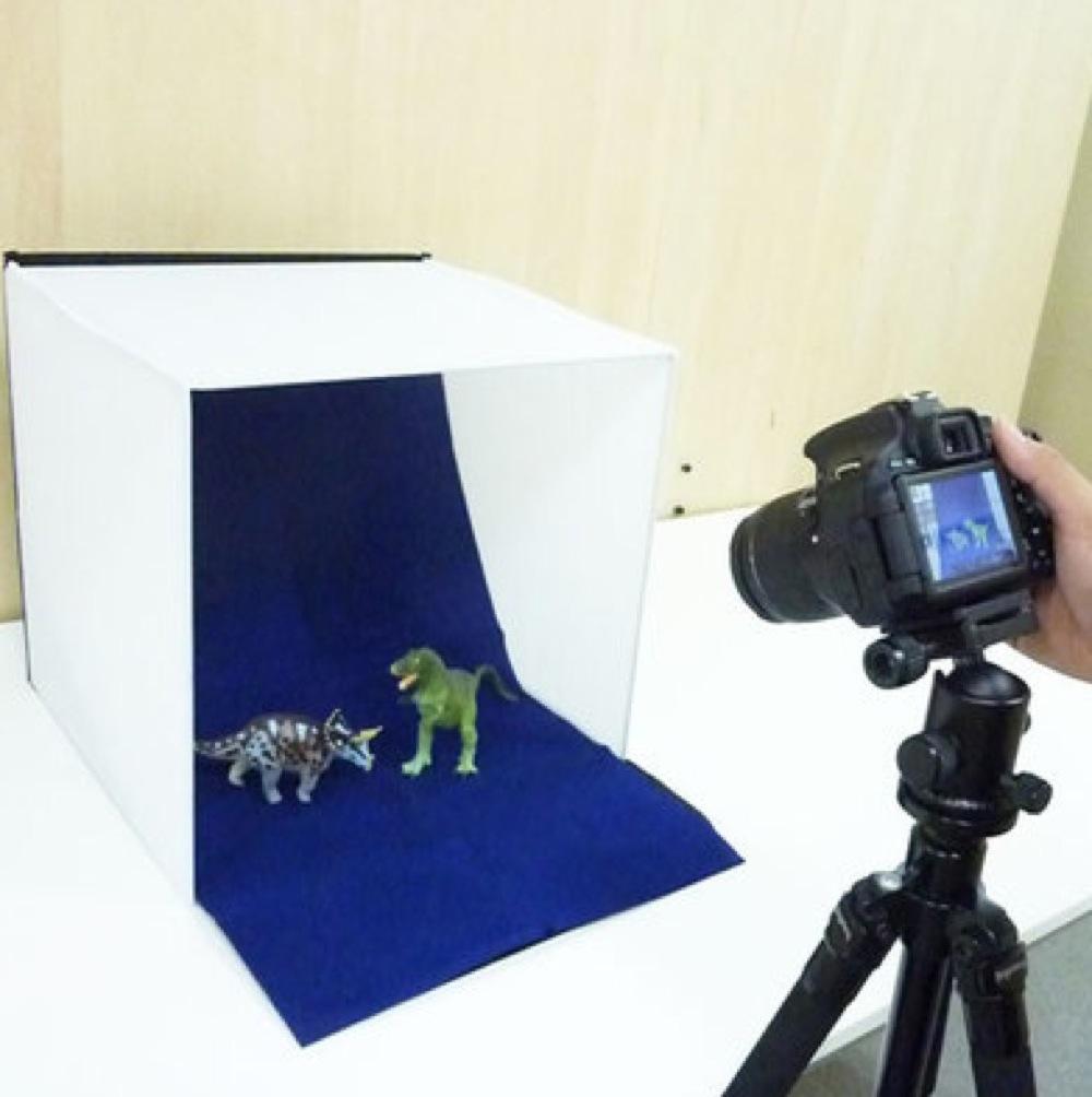 楽天市場 撮影キット フォトスタジオ バックスクリーン4枚付属 折りたたみ式 写真撮影ブース 40cm 上海問屋 DN 81446  ★ 上海問屋