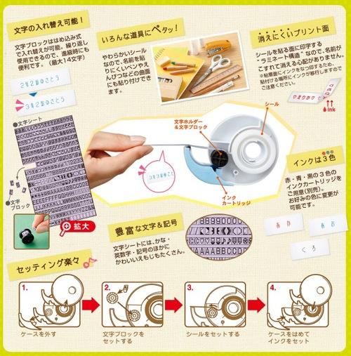 おなまえシールメーカー ナペタ | ビジネス パーソナル用品 |  ファイル と テプラ のキングジム 1