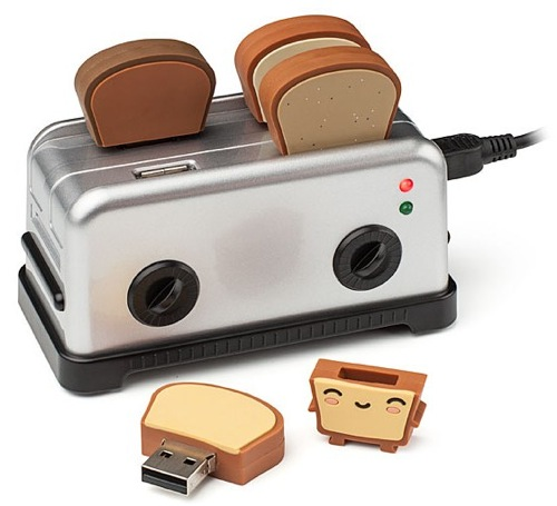 ThinkGeek  USB Toaster Hub and Thumbdrives