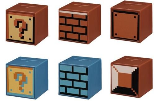 ブロック貯金箱マリオ