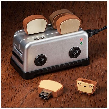 トースト型のUSBメモリー USB Toaster Hub and Thumbdrives DesignWorks 1