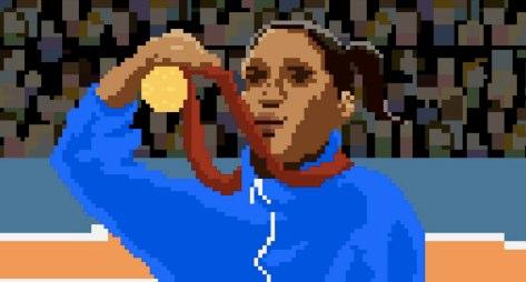 8bitで表現されたオリンピック競技映像作品