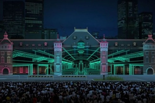 東京駅プロジェクションマッピング