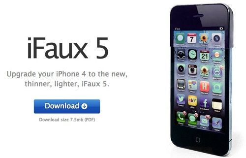 IFaux 5  Upgrade your iPhone 4 to the new thinner lighter iFaux 5
